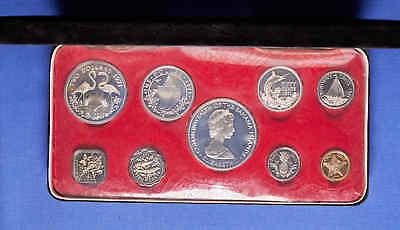 1971 Banhama's Proof Set. 9 Coins with Silver in presentation box & papers.