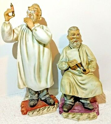 Porcelain Doctor Figurines Andrea by Sadek Syringe & Stethoscope 6630  Lot of 2