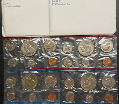 1975 Uncirrculated Coin Set 2 up for auction original envelopes.