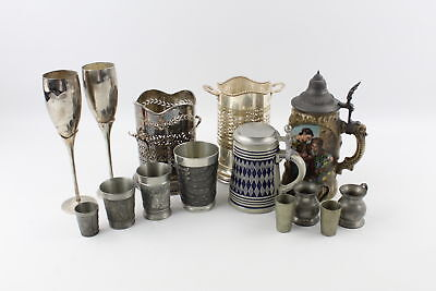 15 x Assorted Kitchenware Inc. Silver Plate, Pewter, Ceramic, Tankards Etc