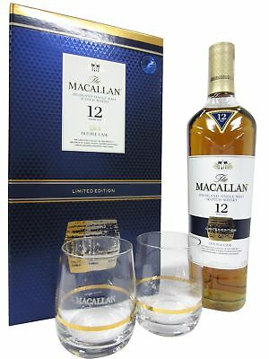 Macallan - Double Cask 2 x Macallan Branded Glasses Gift Set 12 year old  Whisky
