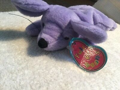 "1997 Avon ""full 0' Beans"" Beanie -  Mozzarella The Mouse - Lavender"