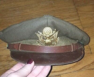 Original WW2 US Combat Worn Pilot's Crusher Hat - Highest Quality