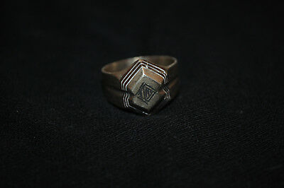 LOW OUTBID !! Rare Ancient VIKING SILVER RING 9-10 AD century ARTIFACT