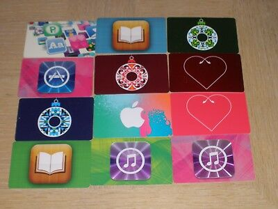 iTunes   12 different new collectible gift cards