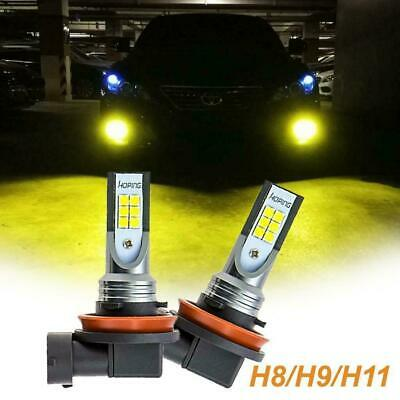 H8 H11 H16 12-SMD Bright Yellow LED Bulbs Fog Light For Prius Tacoma Corolla etc