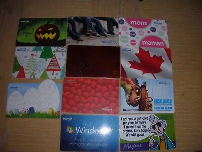 Canada Walmart   11 different new collectible gift cards
