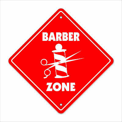 """Barber Crossing Decal Zone Xing 10"""" Tall trim hair cut shave barber shop fade"""