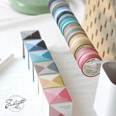 4pcs/lot 6 Colors Scrapbooking Dairy Adhesive Tape Solid Color Washi DIY Tapes A