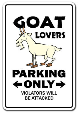 """GOAT LOVERS Parking Decal billy farm dairy farmer 4h