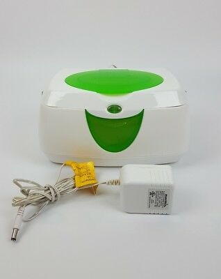 Munchkin Warm Glow Wipes Warmer w Night Light Green Tested Works !!