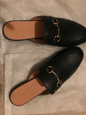 c3ecaed6741 GUCCI PRINCETOWN LOAFER Mule Leather Slip On Black Size 40 -  294.00 ...
