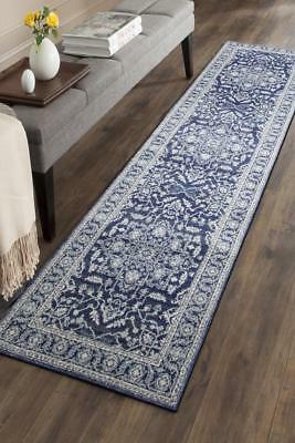 Hallway Runner Hall Runner Rug Modern Blue 4 Metres Long Premium Edith 261