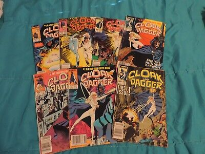 CLOAK and DAGGER #1 + BRONZE AGE MARVEL COMIC BOOK LOT 7 ISSUES Circa 1983