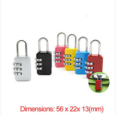Security 3 Digit Combination Travel Suitcase Luggage Bag Code Lock Padlock New A