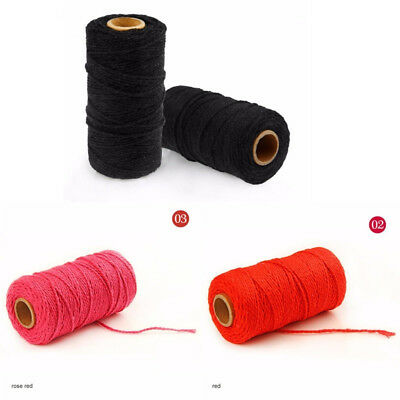 100 Yards Twisted Macrame Cord Sewing Thread Handmade Artisan String 20 Colors