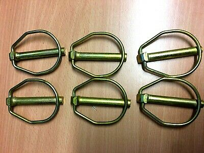 """6 Large LINCH PINS 7/16""""(11mm) x 58mm USEABLE and Vicon Rakes"""