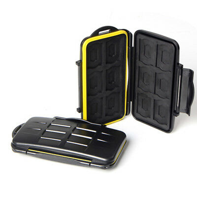 Black Shockproof Waterproof Cover For JJC MC-SD12 Storage Memory Card Case