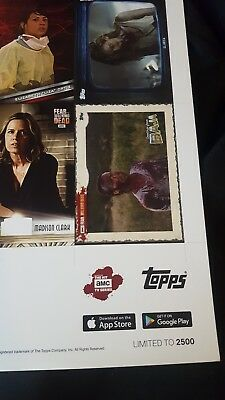 2016 NYCC Topps Fear the Walking Dead Uncut Card Sheet (limited 2,500 exclusive)