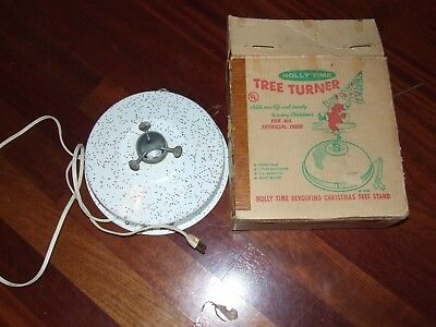 vintage christmas tree turner. Holly time 1962 with box. B-25