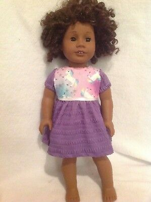 """15"""" Bitty Baby/18"""" American Girl Pink purple Unicorn dress Doll Clothes outfit"""