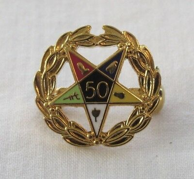 Order Of The Eastern Star 50 Year Pin