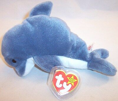 57ca6d831f0 ECHO THE DOLPHIN Original Ty Beanie Baby 1996 Plush Toy NEW with Tag ...