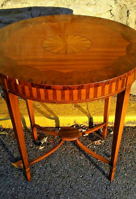 Antique Federal period inlaid  table Made in Connecticut  1800s