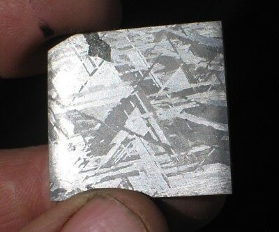 Gorgeous Etched Gibeon Iron Meteorite Thin Slice #112 Beautiful Etch 4 Jewelry!