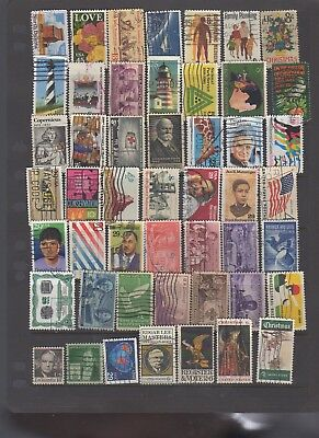 49 all different used stamps from the United States.