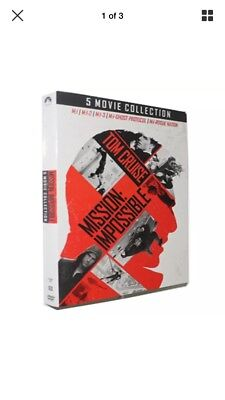 Mission Impossible. 5 movie collection, New, sealed, DVD, FREE SHIPPING.