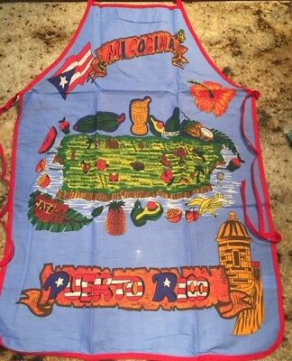 Puerto Rico Kitchen & BBQ Apron Flag and Mapa