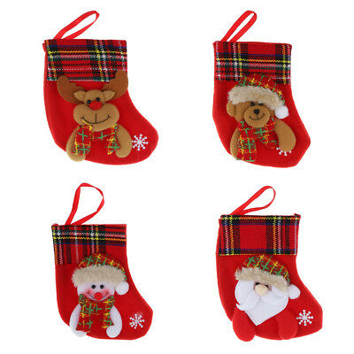 Baoblaze Christmas Holiday Santa Claus Snowman Stockings Candy Socks Bag Decor
