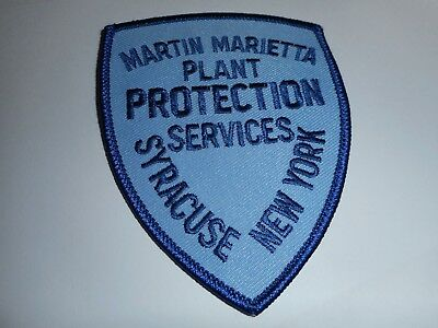 Martin Marietta (Syracuse, New York) plant protection services patch - security