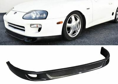 ca077b64de For 93-98 TOYOTA SUPRA V2 FRONT BUMPER LIP PROTECTOR ADD ON POLY URETHANE  BLACK