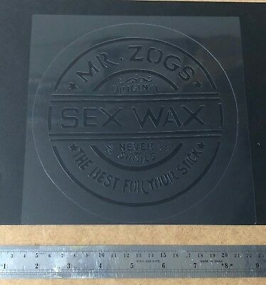 Vintage Surf Mr Zogs Sex Wax Stencil Re-use again and again! Spray or Paint