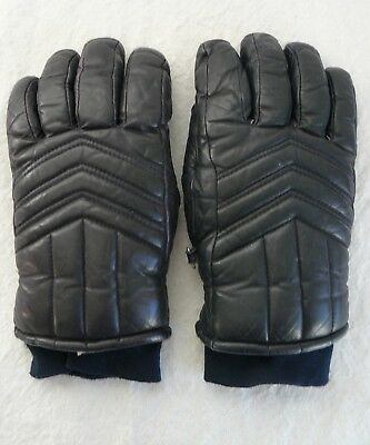 Leather Insulated Ski Gloves Size Men's Small