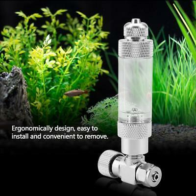 Aquarium Fish Tank Check Valve Bubble Counter for CO2 Regulator Stainless Steel