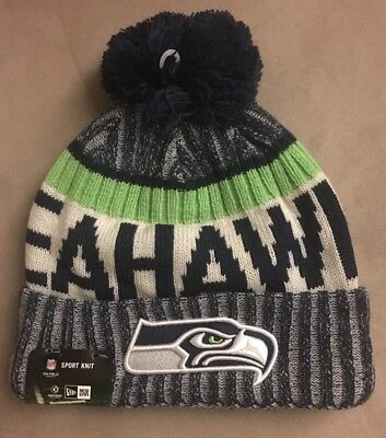 f69121e803a86 Seattle Seahawks New Era College Navy Sideline Official Sport Hat Beanie