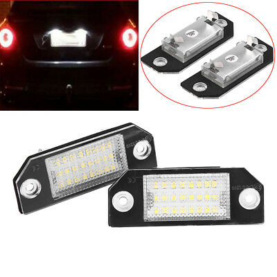 Pair Canbus LED Number License Plate Light For Ford C-MAX Focus MK2 2003-2010
