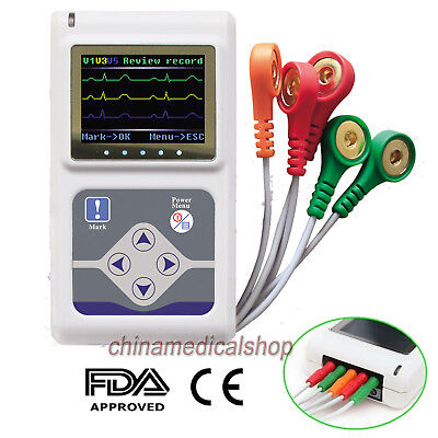 24 hours ECG holter Cardiac Monitor Portable Dynamic EKG Recorder 3 channels CE