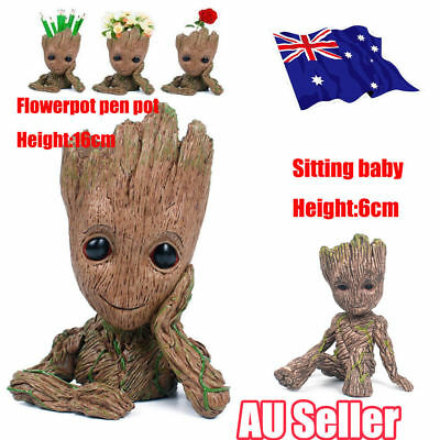 Guardians of The Galaxy Baby Groot Figure Flowerpot Pen Pot Toy Party Gifts D