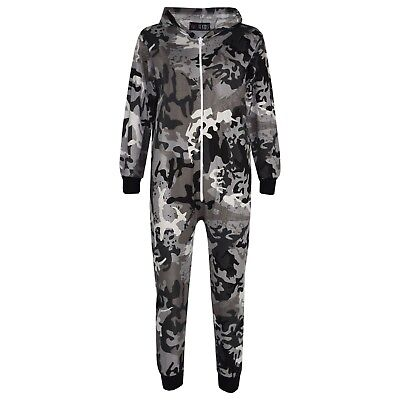 Kids Girls Charcoal Designer's 100% Cotton Camouflage A2Z Onesie One Piece 5-13