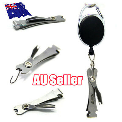 Quick Knot Tool Fishing Nipper Fly Line Cutter Clippers Tie Fast Nail Tying AUFO