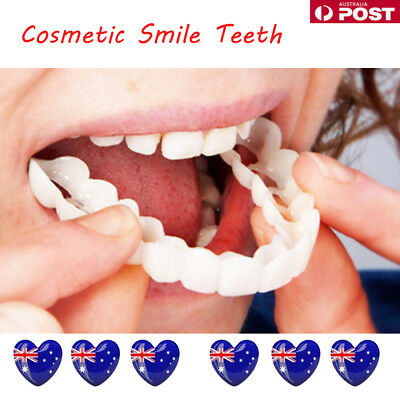 Snap On Teeth Cosmetic Secure Smile Instant Natural Upper Veneers Dental False J