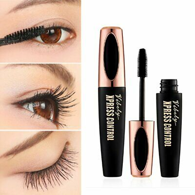 NEW 4D Silk Fiber Eyelash Mascara Extension Makeup Waterproof Kit Big Eyes JW