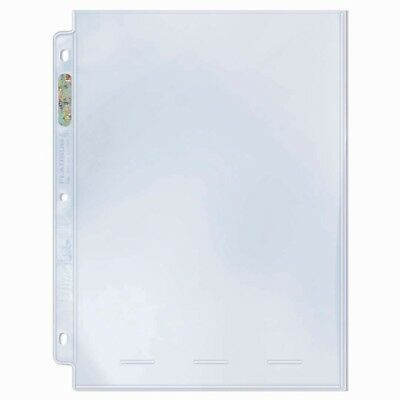 "Ultra PRO 1-Pocket Binder Pages 8 x 10"" Photos Prints Platinum Clear x 10"