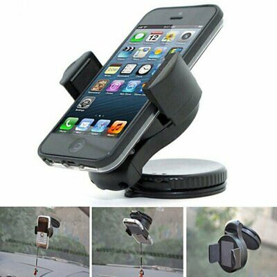 Universal In Car Mobile Phone Sat Nav Pda Gps Holder & Locking Suction Mount New