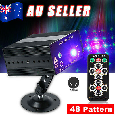 48 Pattern Laser Projector Stage Effect Lights LED RGB Party DJ Disco AU Seller