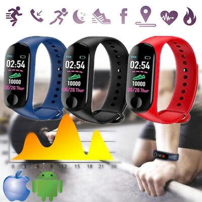 M3s Smart Watch Bracelet Blood Pressure HeartRate Fitness Tracker Sleep Monitor